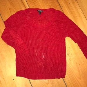 Red Lauren knit sweater
